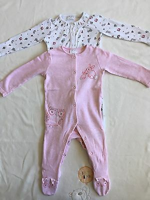 Baby Girl Sleepsuits, 3-6 Months, F&F