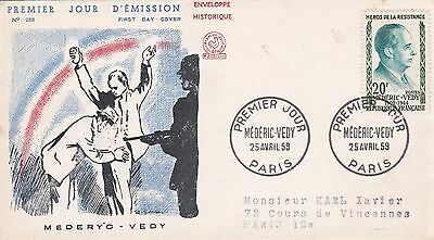 France 1959 Fdc Mederic Vedy  Yt 1200