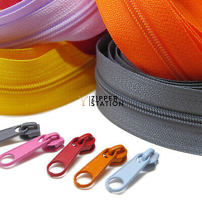Continuous Zip Chain No3 Weight - Upholstery N3 zipping - 1, 2, 5 or 10 meters