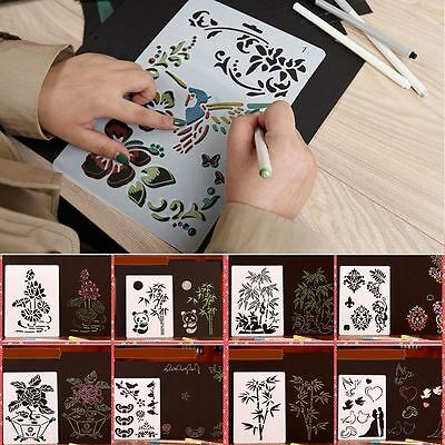 Embossing Plastic Hollow Template Layering Stencils Album Painting Paper Card