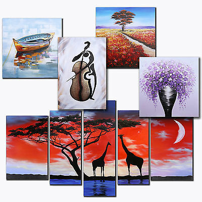 New Abstract Wall Art Original Hand Painted Stretched Canvas Oil Painting