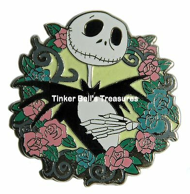 DISNEY Pin - HKDL - Jack with Rose - Nightmare Before Christmas