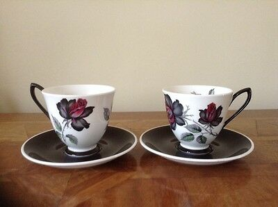 Lovely Royal Albert Bone China Tea/Coffee Cup Saucer x 2 - Masquerade