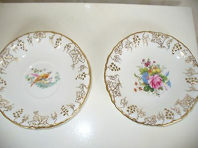 Royal Crown Derby Vine Saucers X2-13.5 Cms.