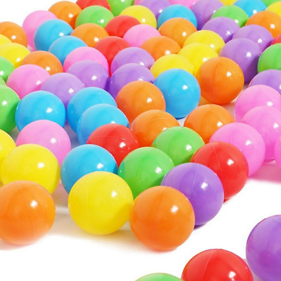 5.5cm Colorful Ocean Balls Soft Plastic Baby Kid Pool Pit Toy Outdoor 100PCs LOT