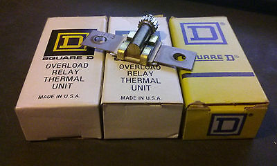 (LOT OF 3) Square D B88 Overload Relay Thermal Unit Heater