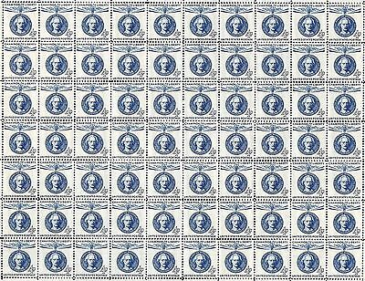 1960 - IGNACY PADEREWSKI - Fault-Free Mint NH Sheet of 70 U.S. Postage Stamps