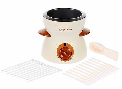 Mini Chocolate Fondue Set with Forks Kitchen Party Gift Dipping Melting Pot New