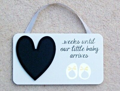Baby Countdown Sign For Pregnancy Weeks Until Baby Arrives Baby Shower Gift