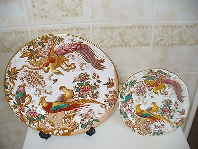 "ROYAL CROWN DERBY ""OLDE AVESBURY"" plate and saucer."