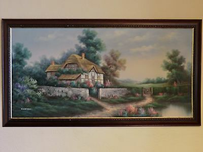 """Very Large Rare Oil Painting, 52.5"""" x 28.5"""", by MARTEN"""