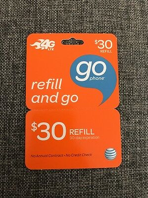 $30 AT&T Refill and Go card