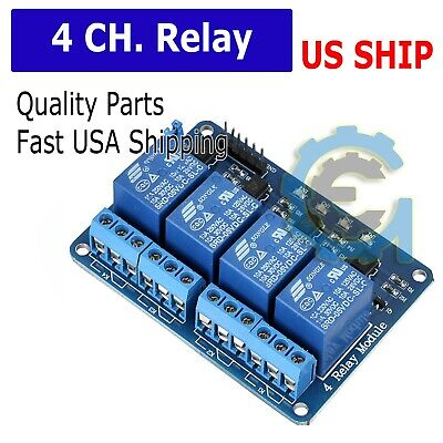 4 Channel 5V Relay Shield Module Board for Arduino Raspberry Pi ARM AVR CN