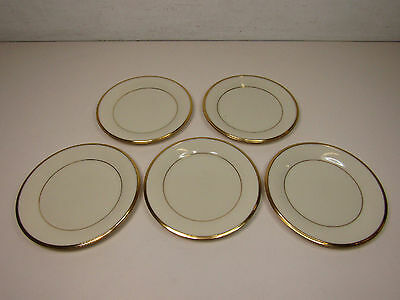 "Lot of 5 Lenox Dimension Collection Eternal 6 3/8"" Plates"