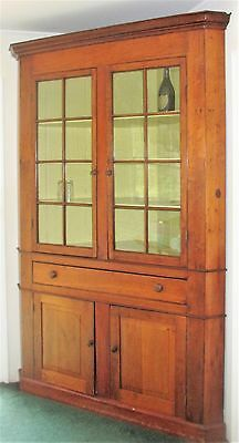 Antique 19th c. Cherry Corner Cupboard c. 1850's