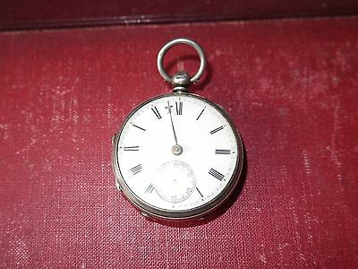 solid silver pocket watch Chester Hallmarked  project mid size chain driven