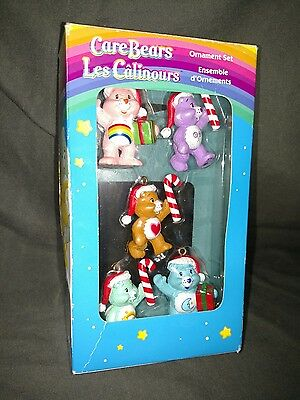 Care Bears Mini Christmas Ornaments Set Of 5 EUC 2005