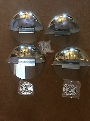Halo Quarter Sphere 250 Watt Polished Brass Wall Sconce Model # H2571PB  QTY-4