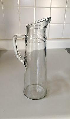 Antique Glass Pitcher With Handle D-126