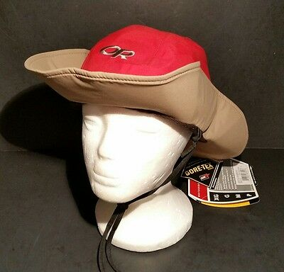 OUTDOOR RESEARCH SEATTLE Sombrero Hat Size Small Gore Tex Red Brown ... c3592caec3c5