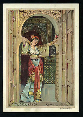Lot 47:  1880s Wm S Kimball & Co Tobacco trade card Fancy Lady cigarettes