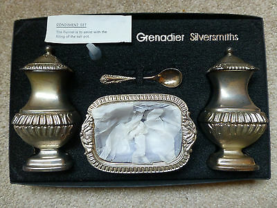 Silver-Plated Condiment Set