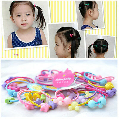 50Pcs Baby Kids Girl Elastic Hair Bands Ponytail Holder Hair Ropes Ties Headband