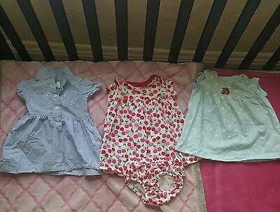 Girls Baby Carter's Lot of ~3~Romper dresses Outfits Size 6 Months
