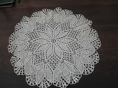 Vintage Large Hand Crocheted Circular Doily