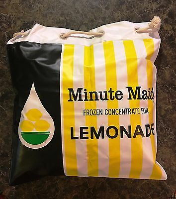 Minute Maid Inflatable Draw String Beach Bag Cooler Vintage Advertisement Rare