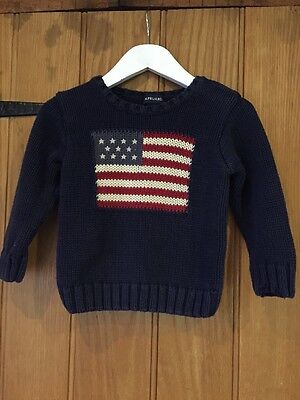 Ralph Lauren Lovely Boys Blue Jumper Age 3