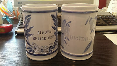 2 Pots A Pharmacie Longchamps Vintage Collection Ancien Ceramique