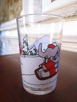 verre moutarde collection BABAR 1991