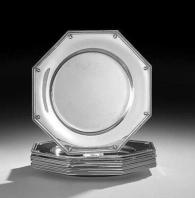 """Set! 12 pc Sterling Silver Service Dinner Chargers Plates Richmond Alvin 11"""""""
