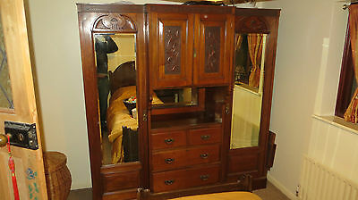 Antique Double Wardrobe and Drawers
