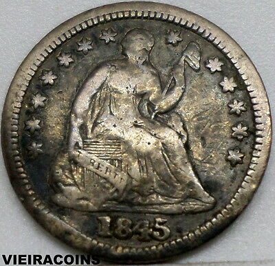 """1845 Liberty Seated  """"SILVER""""  Half Dime  - Hard to Find - #9169"""