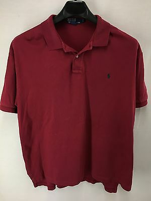 Mens Polo Ralph Lauren Red Smooth Casual Shirt Large