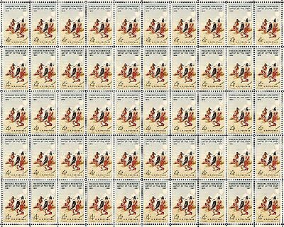 1961 - FREDRICK REMINGTON - #1187 Full Mint Sheet of 50 Vibtage Postage Stamps