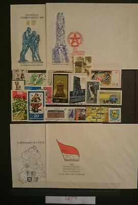 East German, Lot Stamps / Unused Fdc's, Ddr / Marx / Stasi / Coldwar