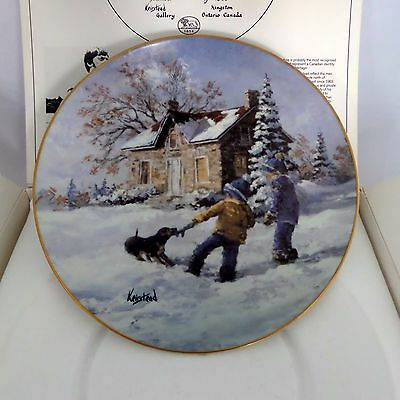 Keirstead Collector Plate Early Memories #2 Tug of War Hutschenreuther Germany