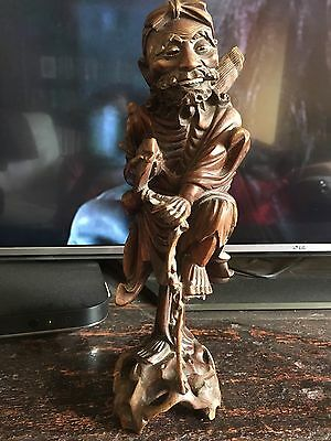 Antique Chinese Carved Figure Of A Man