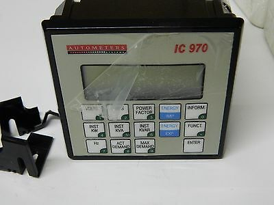 Autometers Type IC970 Panel Mounted Display Power Meter KWh 3X 230/400