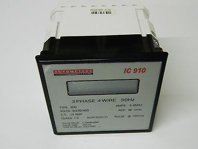 Autometers Type IC910 Panel Mounted Display Power Meter KWh 3X 230/400