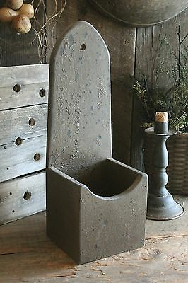 Primitive Tall Wooden Wall Box *Aged Brown