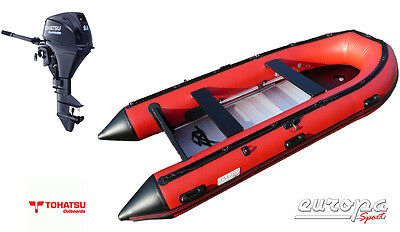 NEW Europa Sport 3.8m Inflatable Boat Aluminium Floor + Tohatsu 9.8hp outboard
