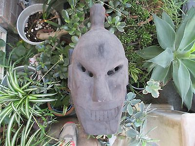 Old Vintage Hand Carved Ethnic Tribal Wooden Mask