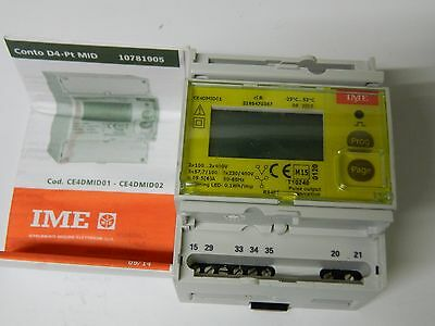 IME CE4DMID01 Three Phase Active and Reactive Energy Meter 100-400vac