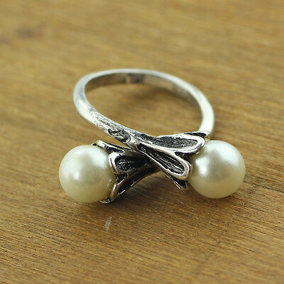 Game of Thrones Daenerys Targaryen Simulated Pearl Ring Women Cosplay Size 8