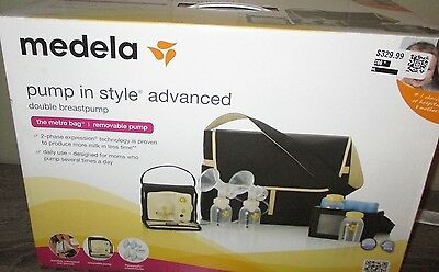 New sealed Medela Pump in Style Advanced Double Electric Breast Pump, Metro Bag