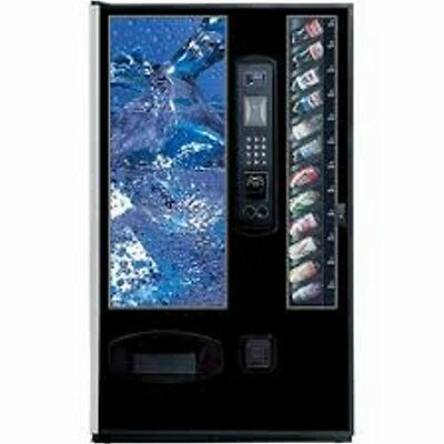 vending machine, holds over 700 drinks, with 10 different varieties/selections!